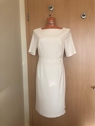Bessini Beyaz Elbise 36