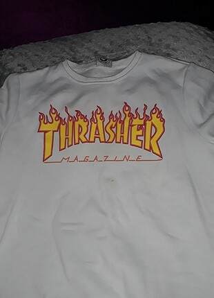 Thrasher beyaz sweat
