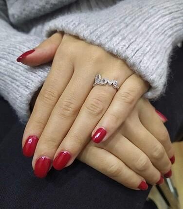 Love Yazılı Gümüş Yüzük