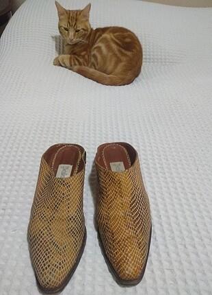 Deri İtalyan Terlik Ayakkabı