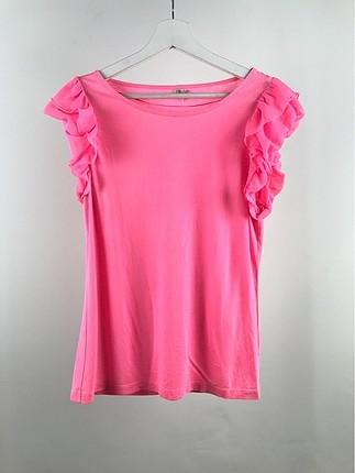 Kolları Fırfırlı Tshirt