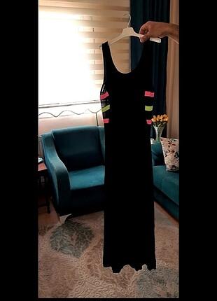 Coo renkli Uzun elbise