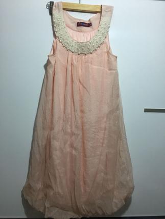 İnci detaylı balon elbise