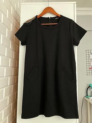 Gusto marka kısa siyah elbise
