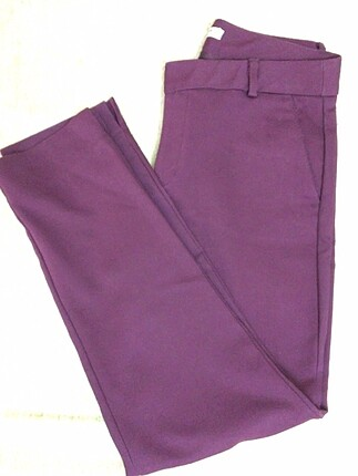 36 Beden mor Renk Klasik pantolon