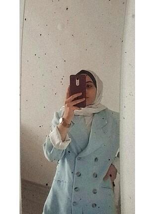Blazer ceket buz mavisi