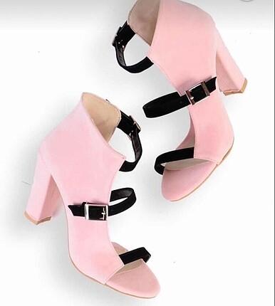 Pudra rengi bağcıklı Ayakkabı