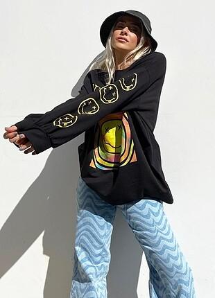 Nirvana baskılı sweatshirt