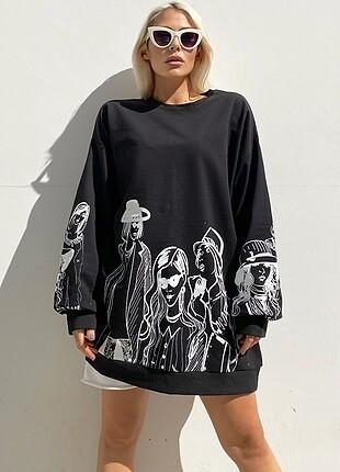 Kız baskılı sweatshirt