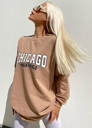 Baskılı 2 iplik sweatshirt