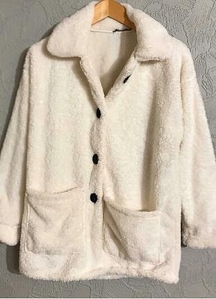 peluş sahte kürk ceket