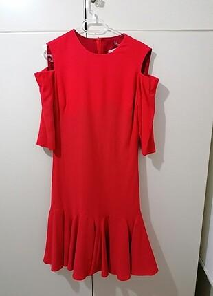 #36 beden twist kırmızı elbise#