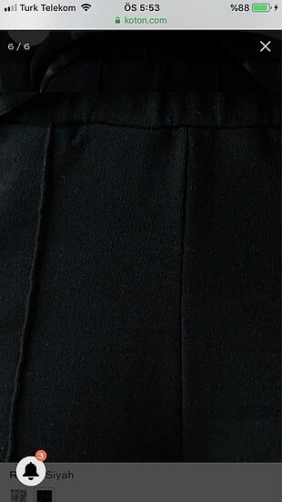 xs Beden siyah Renk Jogger Eşofman Altı Cepli Pamuklu Siyah