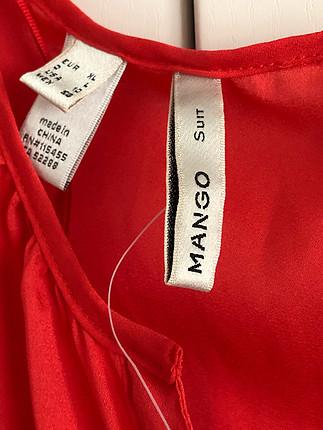 l Beden kırmızı Renk Mango nar çiçeği elbise