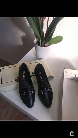 Siyah loafer ayakkabı