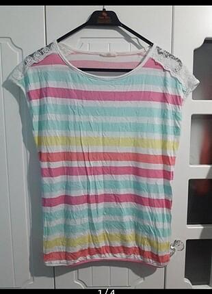 Çizgili Renkli Bluz