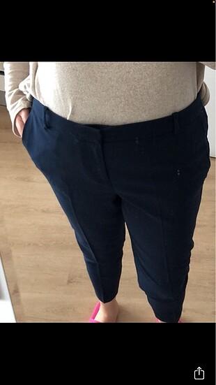 Koyu lacivert likralı kumaş pantolon