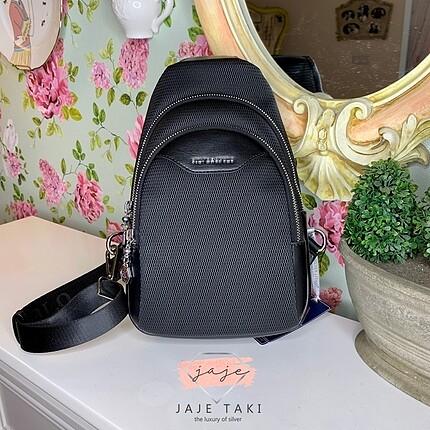 Silver polo siyah yan çanta