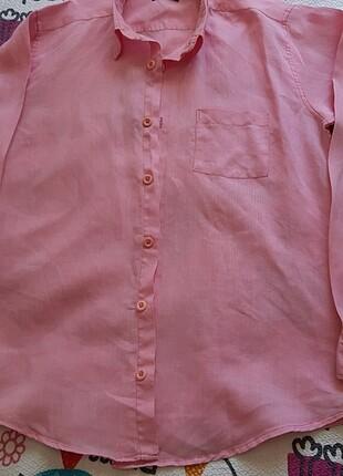 l Beden pembe Renk Erkek gömlek