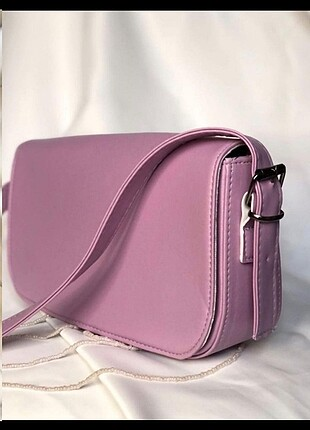 Bershka Lila baget çanta