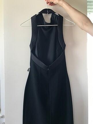 xs Beden siyah Renk Sırt dekolteli elbise
