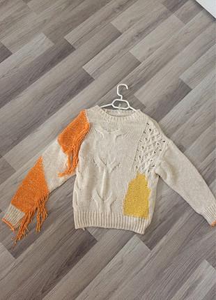 Diğer Butik ürünü turuncu kırcıl detaylı kazak