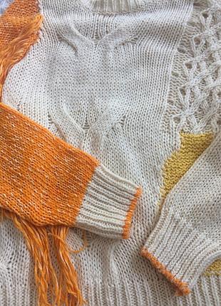 m Beden çeşitli Renk Butik ürünü turuncu kırcıl detaylı kazak