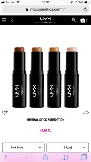 NYX Mineral Stick Fondöten