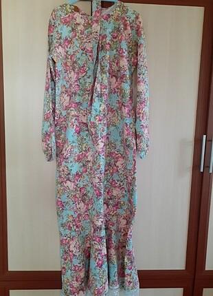 m Beden Kot çiçekli elbise