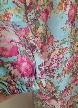 m Beden çeşitli Renk Kot çiçekli elbise