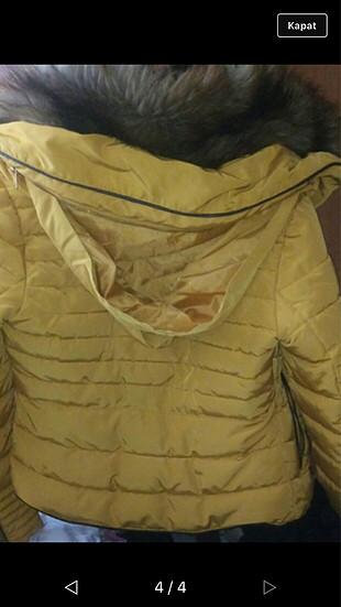 xs Beden altın Renk Zara?nın efsane montu