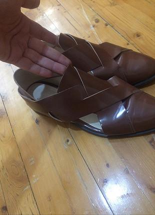 Dekolteli kahve ayakkabi