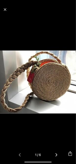 Yazlık hasır çanta