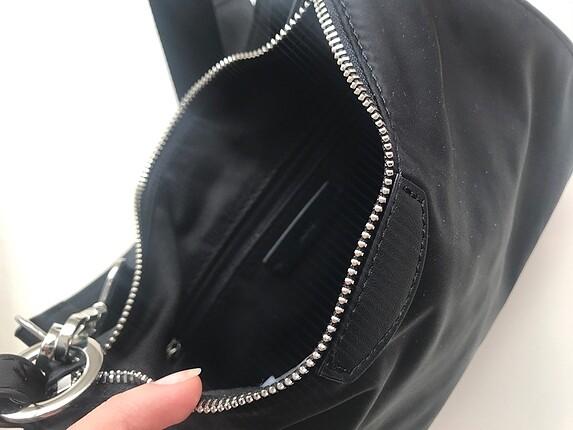 Beden siyah Renk İki saplı baguette omuz çanta