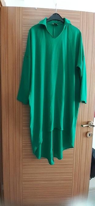 yeşil tunik