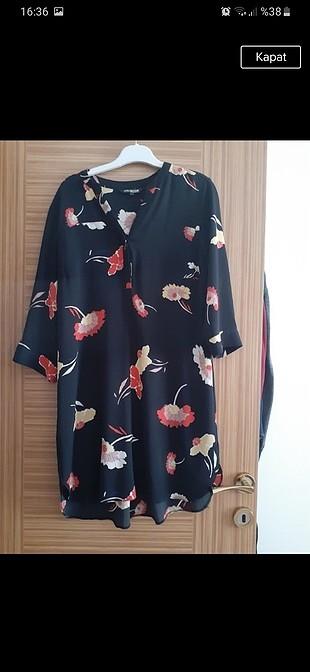 çiçekli tunik-elbise
