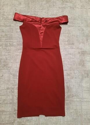 36 Beden bordo Renk Bordo elbise