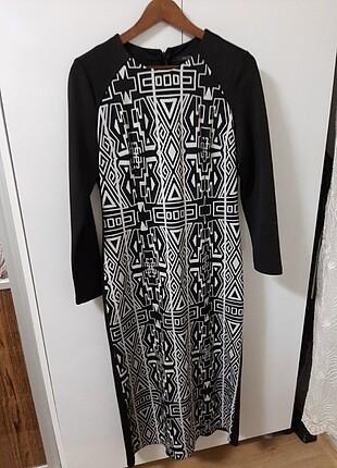 Siyah dalgıç kumas elbise