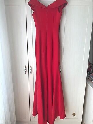 36 Beden kırmızı Renk kırmızı abiye elbise