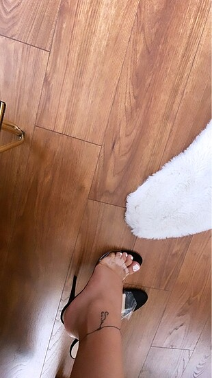 Bambi marka şeffaf ince topuk ayakkabı