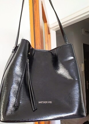 Matthew cox Siyah şık orta boy kol çantası