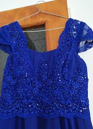l Beden mavi Renk #saks#mavisi#şifon#abiye