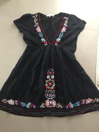 Otantik işlemeli elbise tunik