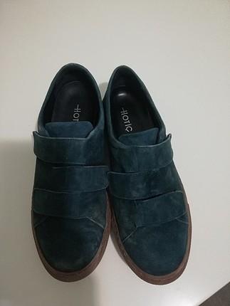 hotiç süet yeşil ayakkabı
