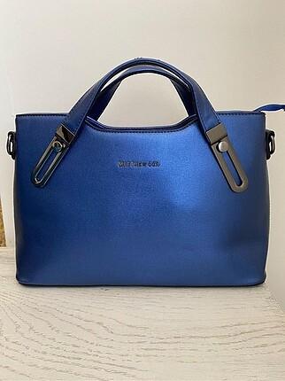 Saks mavi el çantası