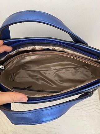 Beden Saks mavi el çantası