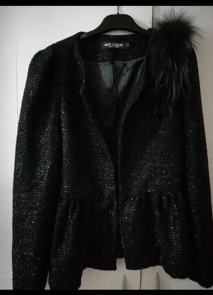 Işıltılı siyah ceket