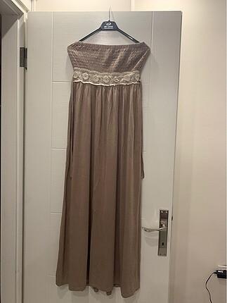Batik straplez elbise