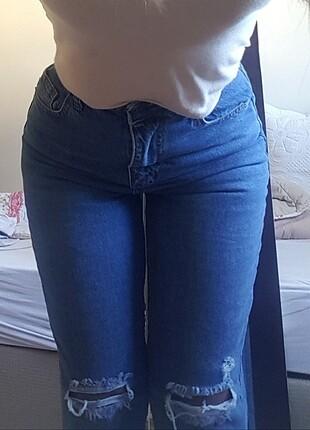 Topshop Yırtık detaylı kot pantolon