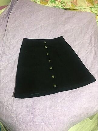 H&M siyah mini etek